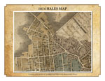 1814 Map of Hales