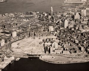 Boston's West End after urban renewal, 1959