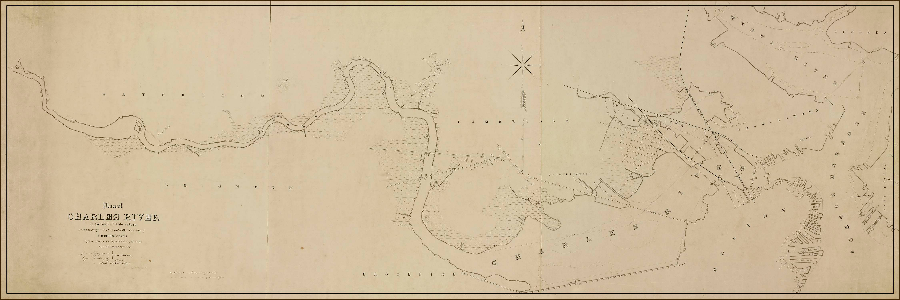 1845 Charles River Map - The West End Museum on